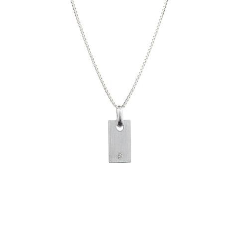 Vera Vega Necklaces  PremiereMini silver Signet necklace