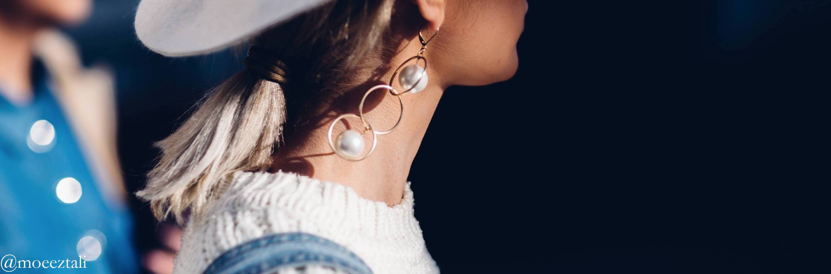 Streetstyle-picture-pearlearring-close-up-by-moeeztal
