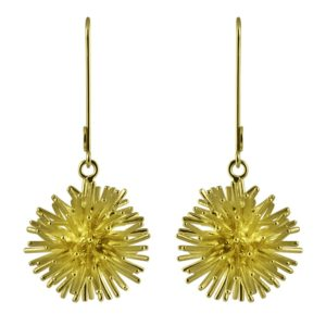 Sofie Lunøe Earrings  PomponGold Pompon earrings