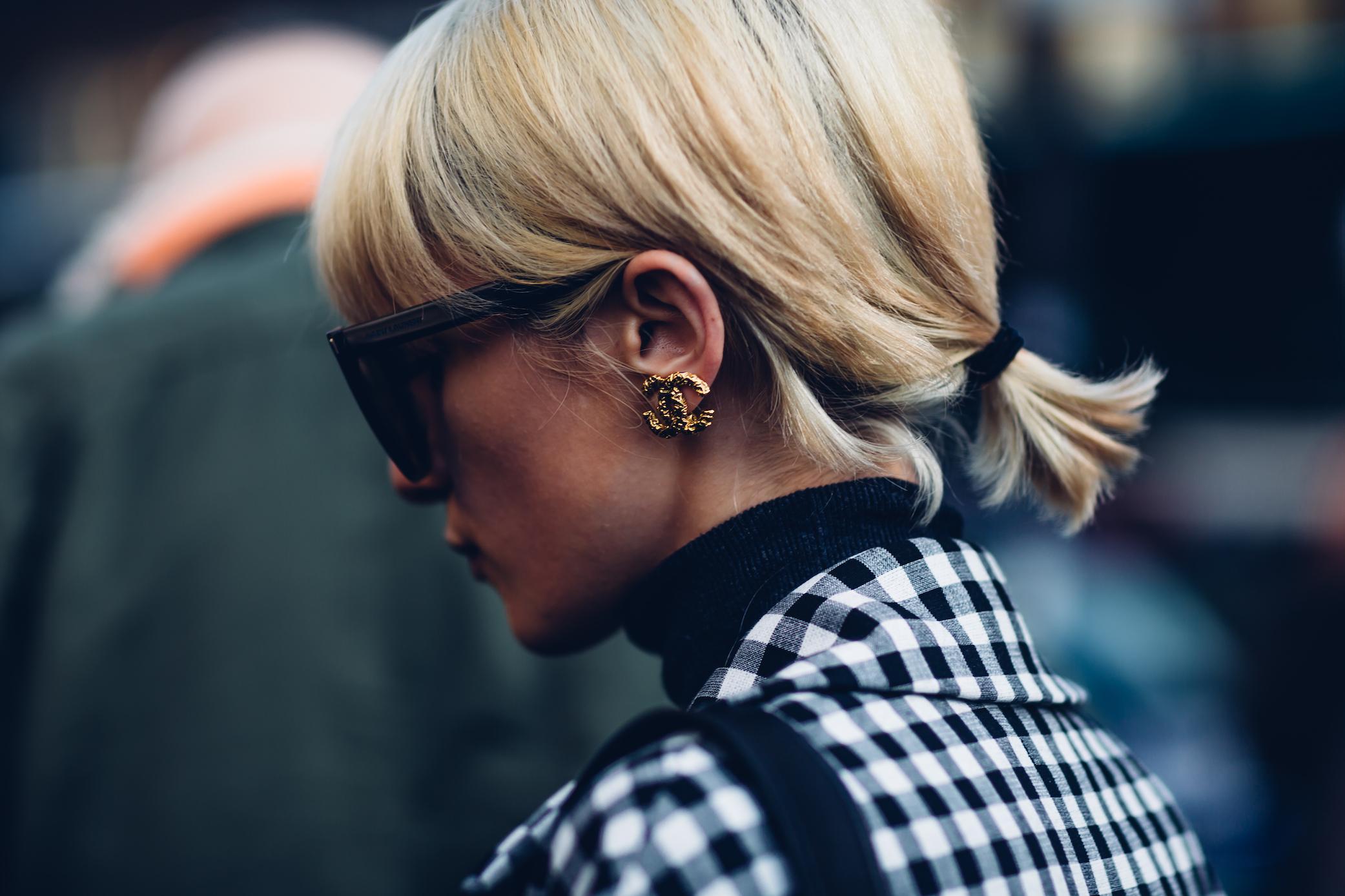 moeez chanel earring closeup streetstyle