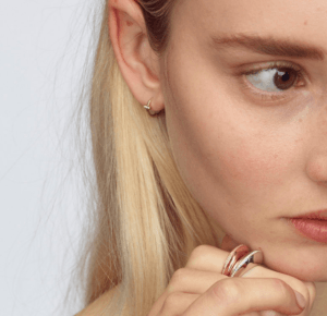 By Pariah Earrings Hoops  ILines Interrupted