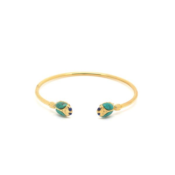 Amanda Marcucci Bangles  EgyptKhepri Turquoise Scarab