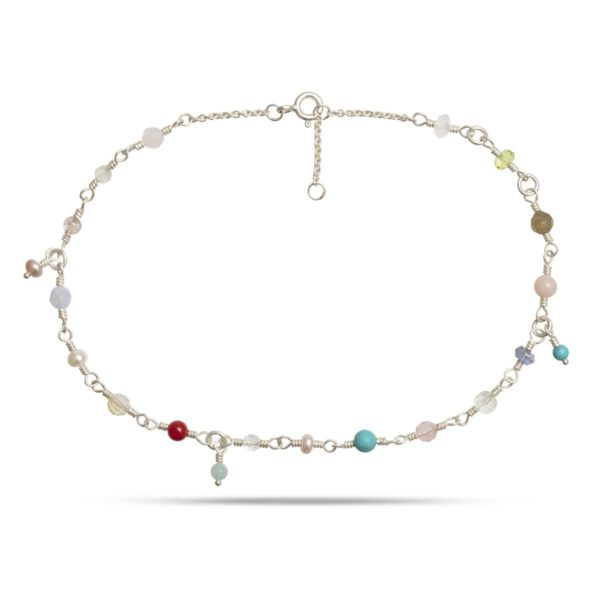 Carré Jewellery Anklets  CARRÉ ARCHIVESilver Anklet w. Pastels