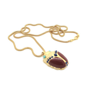 Amanda Marcucci Necklaces  EgyptKhepri Red Japer Scarab