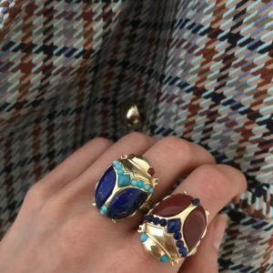 Amanda Marcucci Rings  EgyptKhepri Lapis Lazuli Scarab