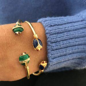 Amanda Marcucci Bangles  EgyptKhepri Malachite Scarab