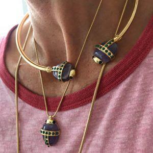 Amanda Marcucci Necklaces  EgyptKhepri Malachite Scarab