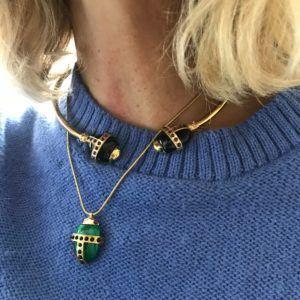 Amanda Marcucci Necklaces  EgyptKhepri Scarab Malachite