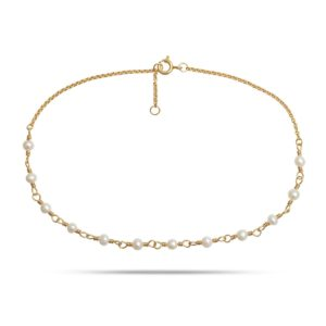 Carré Jewellery Anklets  CARRÉ ARCHIVEGoldplated Anklet w. pearls