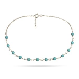 Carré Jewellery Anklets  CARRÉ ARCHIVESilver Anklet w. Turquoise