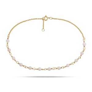 Carré Jewellery Anklets  CARRÉ ARCHIVEGoldplated Anklet w. opals