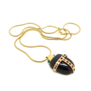 Amanda Marcucci Necklaces  EgyptKhepri Black Onyx Scarab