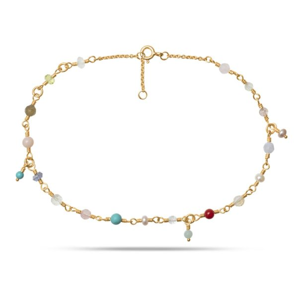 Carré Jewellery Anklets  CARRÉ ARCHIVEGoldplated Anklet w. Pastels