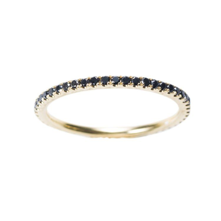 Black diamond ring from Libelula Jewellery