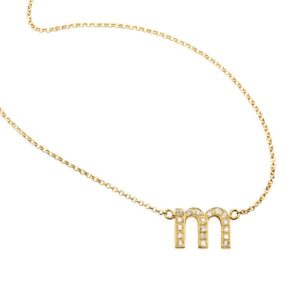 Libelula Jewellery Necklaces  NecklacesDiamond Letter Necklace