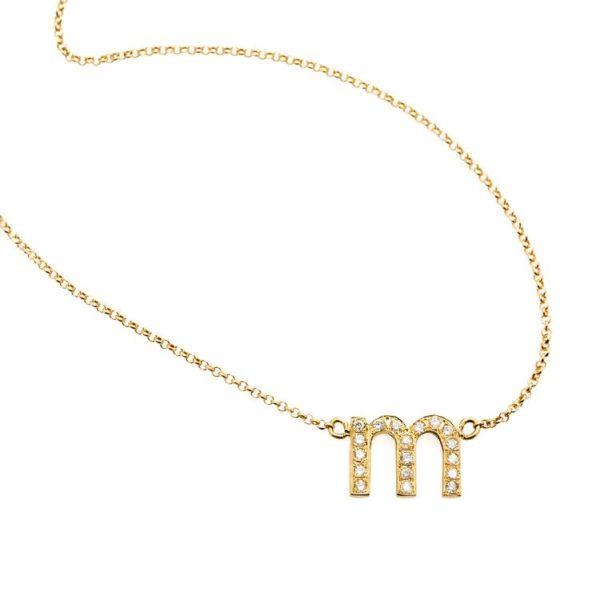 Libelula Jewellery Necklaces  NecklacesDiamond Letter Necklace