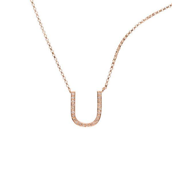 Libelula Jewellery Necklaces  NecklacesCapital Diamond Letter Necklace
