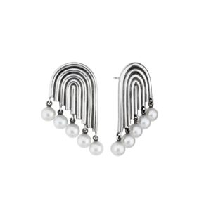 Ninna York Earrings  SupersonicMultiple Pearl Earrings