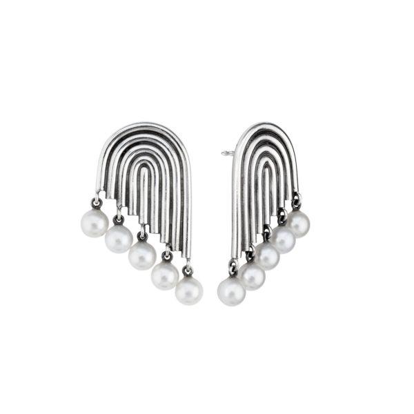 Ninna York Earrings  SupersonicMultiple Pearl Earrings