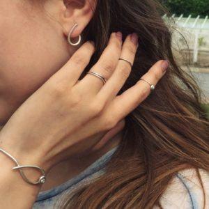 Dulong Fine Jewelry Earrings Hoops  KharismaSmall Kharisma silver earrings