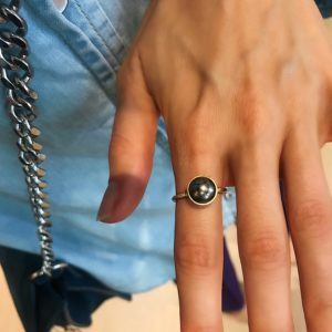 Dulong Fine Jewelry Rings  PacificSmall Pacific ring with Tahitian pearl