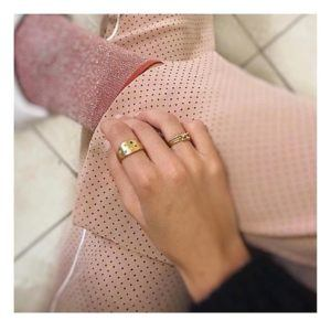 Dulong Fine Jewelry Rings  LunaLuna ring with diamonds