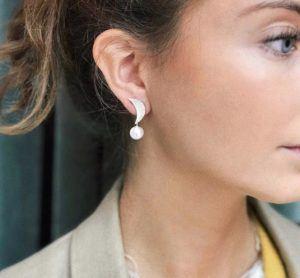 Dulong Fine Jewelry Earrings  LunaLuna earrings with freshwater pearls