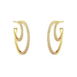 Georg Jensen Earrings Hoops  HaloHalo Earhoop - 26 mm