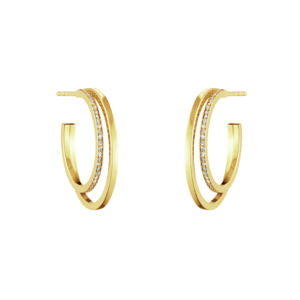 Georg Jensen Earrings Hoops  HaloHalo Earhoop - 23 mm
