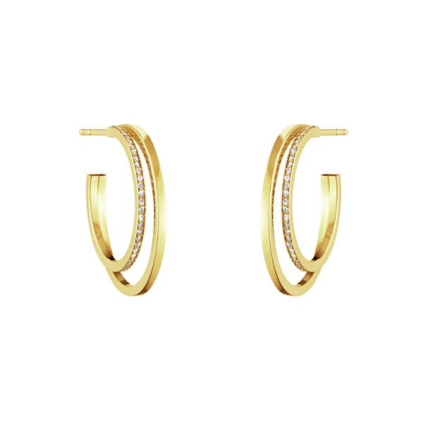 Georg Jensen Earrings Hoops  HaloHalo Earhoop - 23 mm