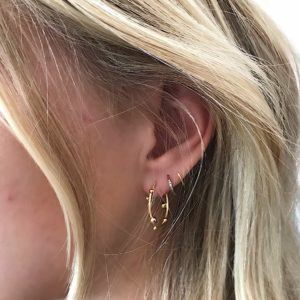 Dulong Fine Jewelry Earrings Hoops  DelphisSmall Deplhis creol