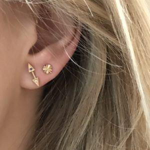 Line&Jo Earrings  CLOVERMISS EM gold