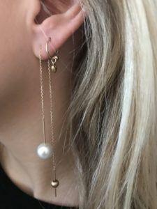 Line&Jo Earrings  FRAGMENTMISS ELLY TWO gold