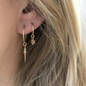 Line&Jo Earrings  FRAGMENTMISS ELLY THREE gold