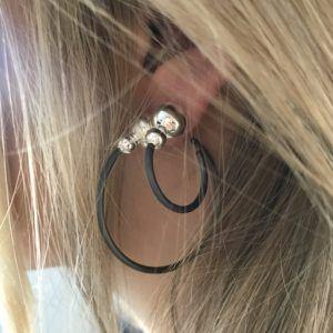 Line&Jo Earrings  TWO TONEMISS ELOOP two tone