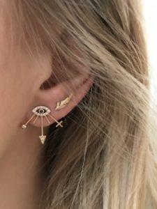 Line&Jo Earrings  RAY OF EYESMISS EYLIE gold diamond sapphire