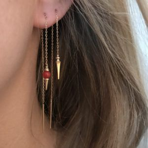 Line&Jo Earrings  TUTTI FRUTTIMISS ELSIA gold red coral
