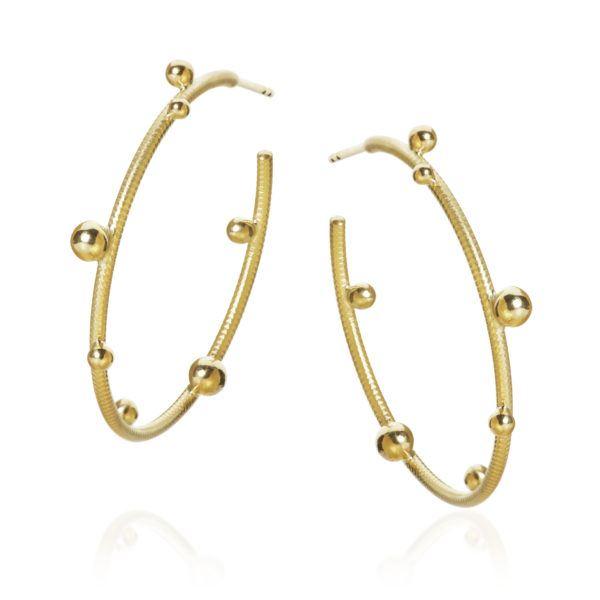 Dulong Fine Jewelry Earrings Hoops  DelphisLarge Delphis Hoop
