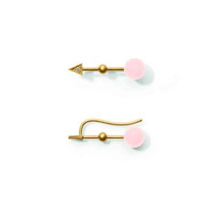 Line&Jo Earrings  TUTTI FRUTTIMISS EAST gold diamond pink coral