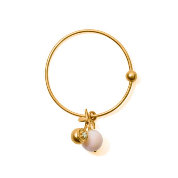 Line&Jo Earrings  TUTTI FRUTTIMISS ECHERRY FOUR gold diamond pink coral