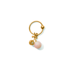 Line&Jo Earrings  TUTTI FRUTTIMISS ECHERRY TWO gold diamond pink coral