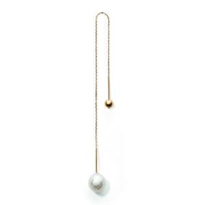 Line&Jo Earrings  PEARLMISS EGLOBE gold large white facetted pearl
