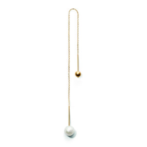 Earrings  PEARLMISS EGLOBE gold medium white facetted pearl