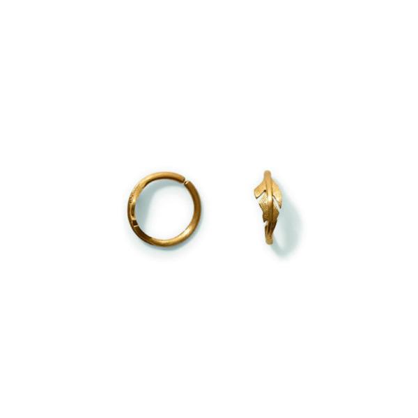 Line&Jo Earrings  FEATHERMISS ELLEGOOD ONE gold