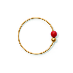 Line&Jo Earrings  TUTTI FRUTTIMISS ELLY FOUR gold red coral