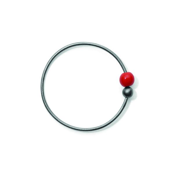 Line&Jo Earrings  TUTTI FRUTTIMISS ELLY FOUR grey red coral