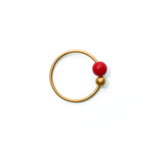 Line&Jo Earrings  TUTTI FRUTTIMISS ELLY THREE gold red coral