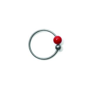 Line&Jo Earrings  TUTTI FRUTTIMISS ELLY THREE grey red coral