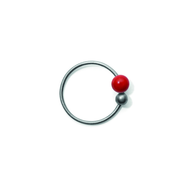 Line&Jo Earrings  TUTTI FRUTTIMISS ELLY THREE grey red coral