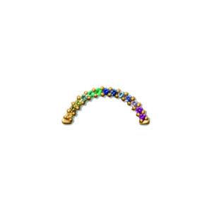 Line&Jo Earrings  TUTTI FRUTTIMISS ERAINBOW TWO gold multicoloured sapphire